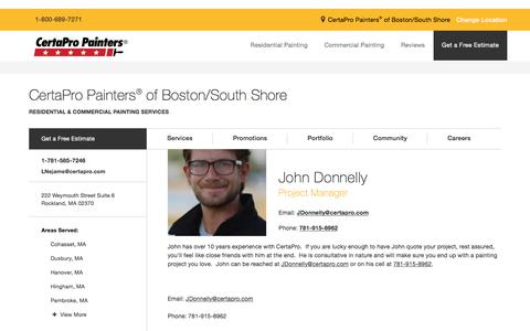Screenshot of Team Page certapro.com - John Donnelly - Boston South Shore - captured March 20, 2017