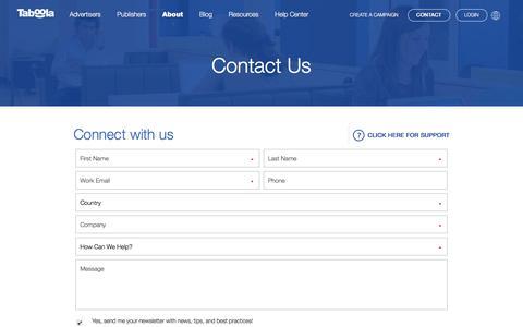 Contact Us | Taboola.com