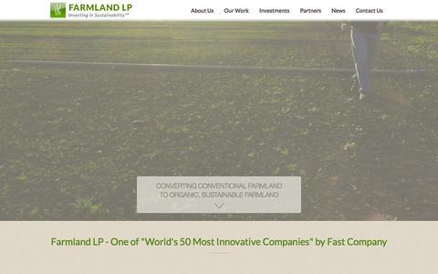 Screenshot of Home Page farmlandlp.com - Home | Farmland LPFarmland LP | Investing in Sustainability - captured Sept. 19, 2014