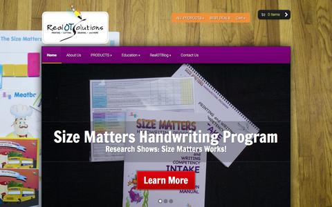 Screenshot of Home Page realotsolutions.com - RealOTSolutions - Educational tools for printing, cutting, drawing, and more. - captured Dec. 6, 2016