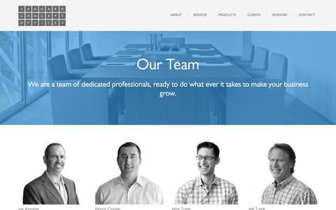 Screenshot of Team Page vcoffices.com - Team «  Vangard Concept Offices - captured Sept. 25, 2016