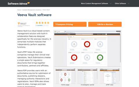 Veeva Vault Software - 2018 Reviews, Pricing & Demo