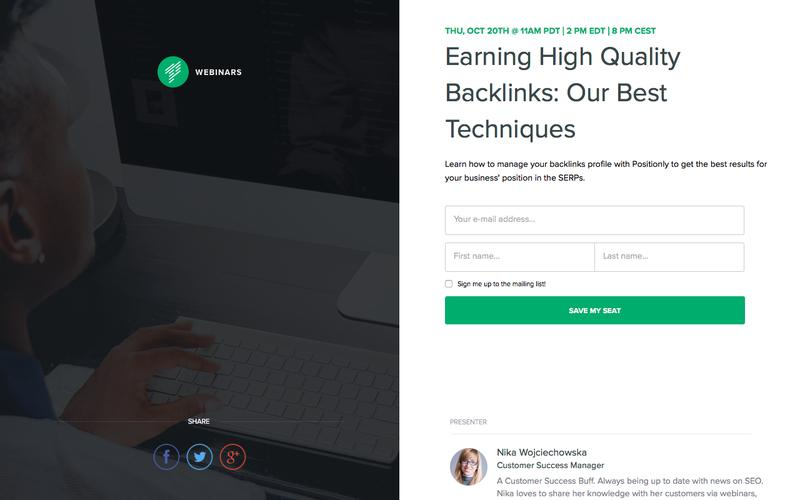 Earning High Quality Backlinks: Our Best Techniques