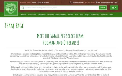 Screenshot of Team Page smallpetselect.com - Team Page - Smallpetselect - captured Sept. 29, 2018