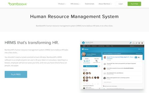 HRMS Software | Human Resource Management System | BambooHR