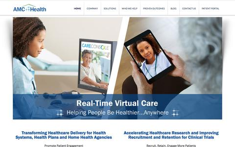 Screenshot of Home Page amchealth.com - Remote Patient Monitoring | Innovative Technology Solutions for Better Health - captured Oct. 7, 2017
