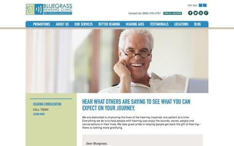 Screenshot of Testimonials Page bluegrasshearing.com - Hearing Aid Testimonials - Bluegrass Hearing - captured Nov. 22, 2016