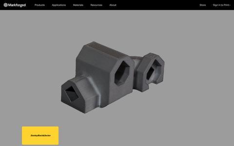 Screenshot of Case Studies Page markforged.com - Markforged.com - captured June 26, 2018