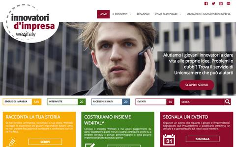 Screenshot of Home Page we4italy.it - WE4Italy - Innovatori d'Impresa - captured Jan. 30, 2015