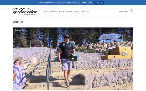 Screenshot of About Page graniterocx.com - About - Granite Rocx - captured Nov. 11, 2016