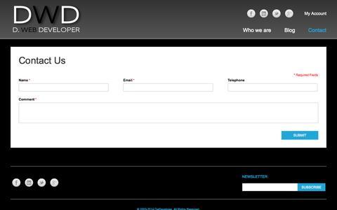 Screenshot of Contact Page dwdeveloper.com - Contact Us - captured Oct. 29, 2014