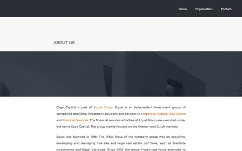 Screenshot of About Page cage-capital.com - About Us - Cage Capital - captured July 10, 2016