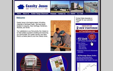Screenshot of Home Page cassityjones.com - Cassity Jones Lumber and Building Materials - Cassity Jones Lumber and Building Materials - captured Jan. 18, 2015