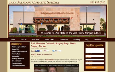 Screenshot of Blog parkmeadowscosmeticsurgery.com - Park Meadows Cosmetic Surgery Blog - Plastic Surgery Denver - captured Dec. 7, 2015