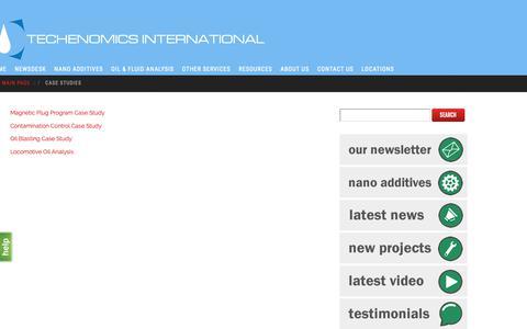 Screenshot of Case Studies Page techenomics.net - Case Studies - techenomics.net - captured Oct. 18, 2018