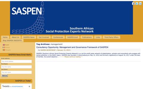 Screenshot of Team Page saspen.org - management – SASPEN - captured Oct. 1, 2018