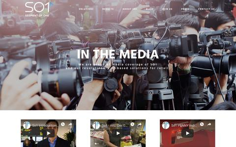Screenshot of Press Page so1.ai - SO1 | In the media - captured Oct. 18, 2018