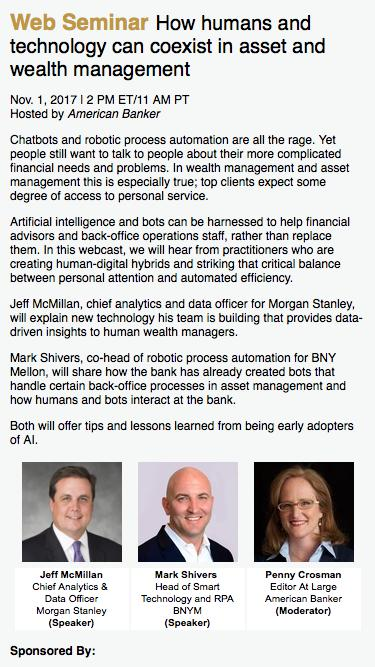 How humans and technology can coexist in asset and wealth management  Web Seminar