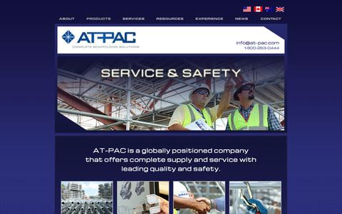 Screenshot of Home Page at-pac.com - AT-PAC | Complete Scaffolding Solutions - captured Oct. 4, 2014