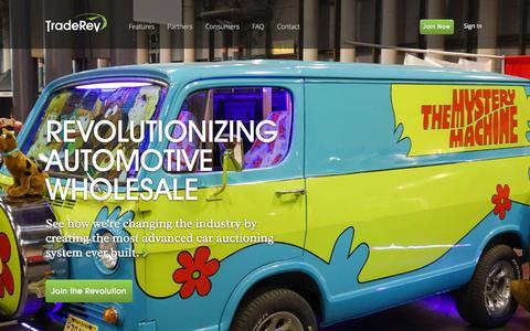 Screenshot of Home Page traderev.com - TradeRev - captured Sept. 30, 2014