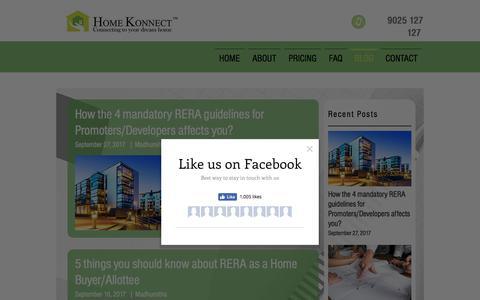 Screenshot of Blog homekonnect.com - Blog | Chennai | Home Konnect - captured July 20, 2018