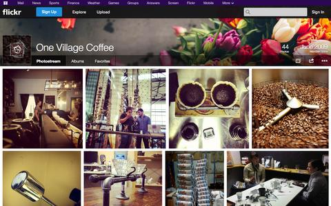 Screenshot of Flickr Page flickr.com - Flickr: One Village Coffee's Photostream - captured Oct. 26, 2014