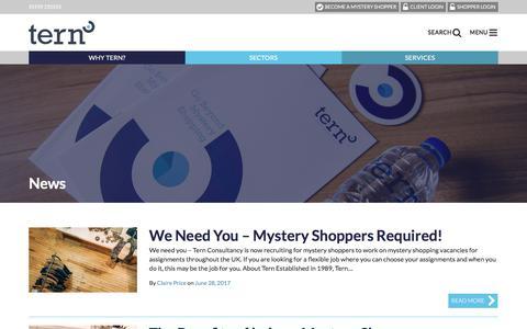 Screenshot of Press Page tern.co.uk - News - Tern Consultancy Ltd - captured Oct. 21, 2017