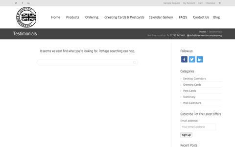 Screenshot of Testimonials Page thecalendarcompany.org - Testimonials Archive - The Calendar Company - captured Nov. 8, 2017