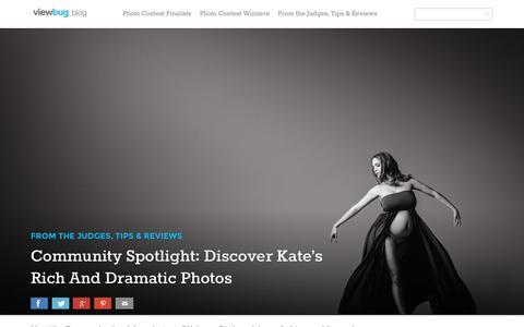 Screenshot of Blog viewbug.com - Community Spotlight: Discover Kate's Rich And Dramatic Photos - ViewBug Blog - captured Sept. 27, 2015