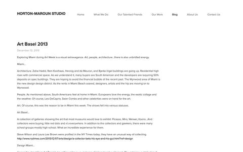 Screenshot of Blog horton-maroun.com - Blog — Horton-Maroun Studio - captured Sept. 29, 2018