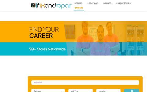 Screenshot of Jobs Page ifixandrepair.com - JOBS - iFixandRepair - captured Oct. 13, 2018