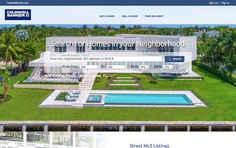 Screenshot of Home Page coldwellbanker.com - Real Estate and Homes for Sale - Coldwell Banker - captured July 31, 2017