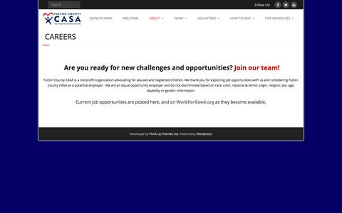 Screenshot of Jobs Page fultoncountycasa.org - Careers – Fulton County Georgia CASA - captured Oct. 14, 2017