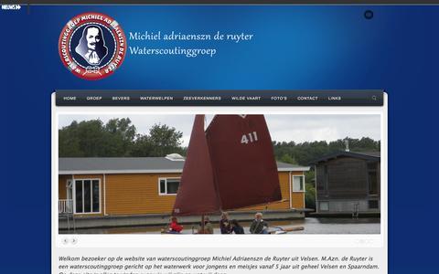 Screenshot of Home Page de-ruyter.nl - Michiel Adriaenszn de Ruyter   - captured Oct. 6, 2014
