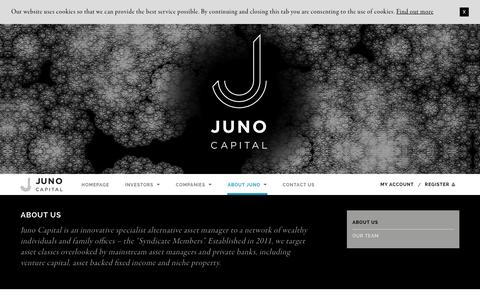 Screenshot of About Page junocapital.co.uk - Juno Capital LLP - About Us - captured Nov. 27, 2016