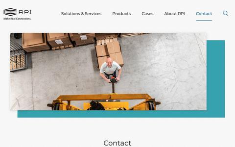 Screenshot of Contact Page rpiprint.com - Contact | RPI print - captured Sept. 14, 2019
