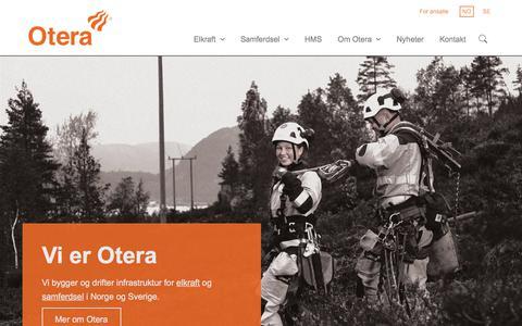 Screenshot of Home Page otera.no - Forside - Otera - captured Nov. 11, 2017