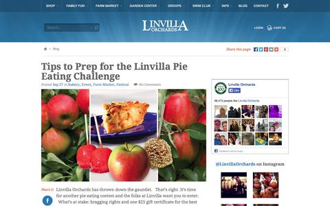 Screenshot of Blog linvilla.com - Orchard Stories - captured Oct. 3, 2014