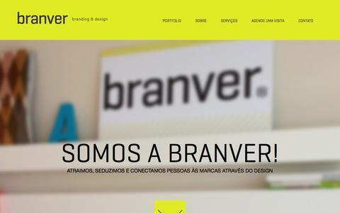 Screenshot of Home Page branver.com.br - Branver - captured Jan. 27, 2015