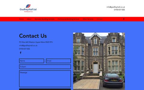 Screenshot of Contact Page godfreyhall.co.uk - Contact   Bristol   GodfreyHall Ltd - captured Aug. 16, 2017
