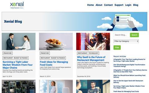 Screenshot of Blog xenial.com - Xenial - captured Sept. 4, 2019