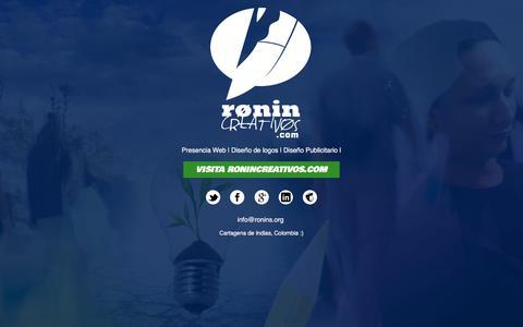 Screenshot of Home Page ronins.org - Paginas web, Identidad Corporativa y Construcción de Marca, desde Cartagena, Colombia :: ronin Equipo Creativo - captured Nov. 2, 2017