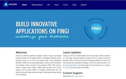 Screenshot of Developers Page fingi.com - FINGI | Customize Your Moments - captured Jan. 8, 2016