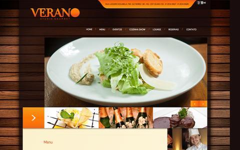 Screenshot of Menu Page veranogourmet.com.br - Verano Gourmet - captured Oct. 10, 2014