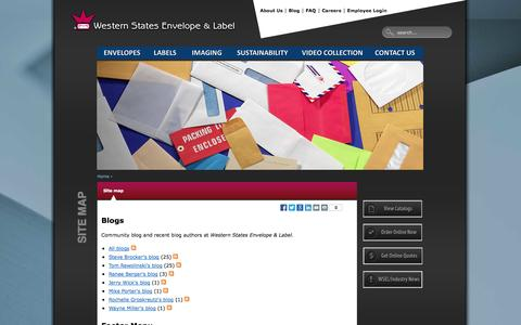 Screenshot of Site Map Page wsel.com - Site map | Western States Envelope & Label - captured Oct. 9, 2014