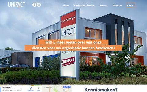 Screenshot of Contact Page unifact.eu - Contact - Unifact B.V. - Internetbureau Heerde - captured Nov. 4, 2017