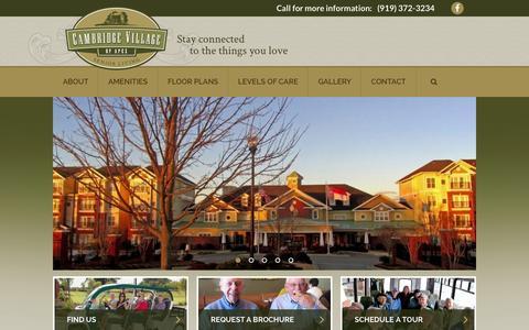 Screenshot of Home Page cambridgevillageofapex.com - Home - Cambridge Village of Apex - captured July 18, 2015