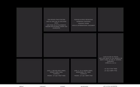 Screenshot of Home Page jivaro.com.au - Jivaro - Fashion & Retail Recruitment Agency Sydney & Melbourne - captured Oct. 3, 2014