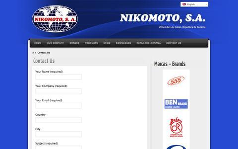 Screenshot of Contact Page nikomotozl.com - Contact Us | Auto Repuestos - Auto Parts Panama | Nikomoto, Zona Libre, Panamá - captured Dec. 2, 2016