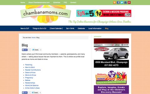 Screenshot of Blog chambanamoms.com - Blog - captured Sept. 25, 2014